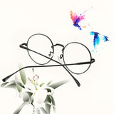 6 COLORS RADIATION PROTECTION LITERARY METAL ROUND GLASSES