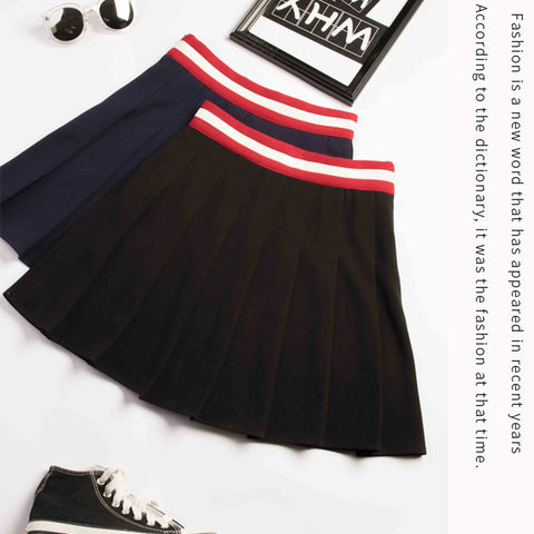 COLLEGE STYLE PLEATED SKIRTS