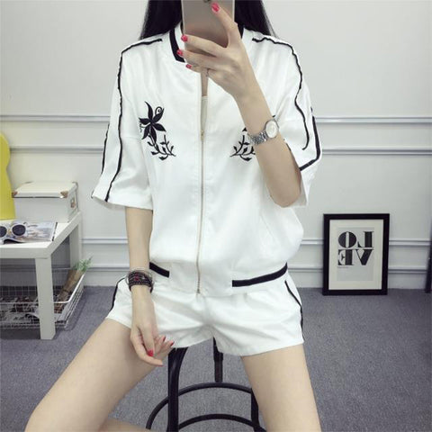 LEISURE SPORTS TWO-PIECE SET JACKETS&BOTTOMS