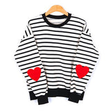 SlogPith STRIPED HEART SWEATERS