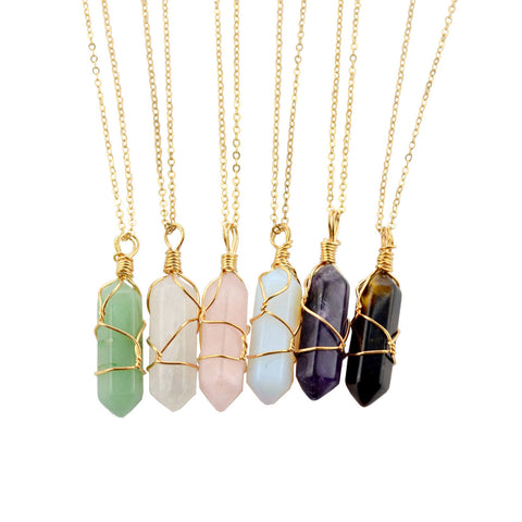 SlogPith QUARTZ NECKLACES