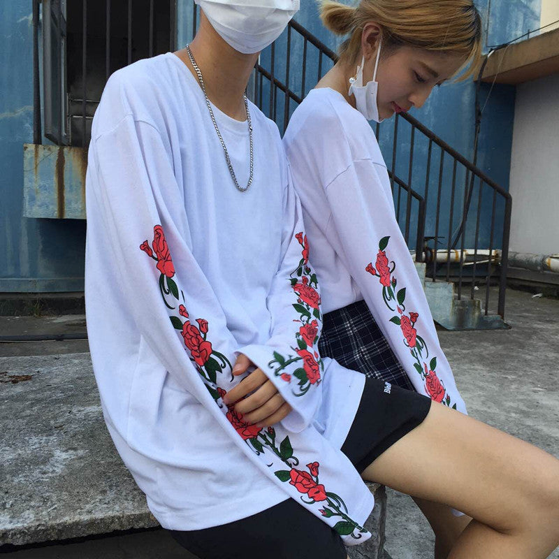 ROSE AND THORNS LONG-SLEEVES TEE