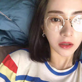 IUYZW METAL FRAME GLASSES
