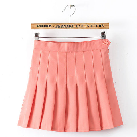 RED PLEATED SKIRTS