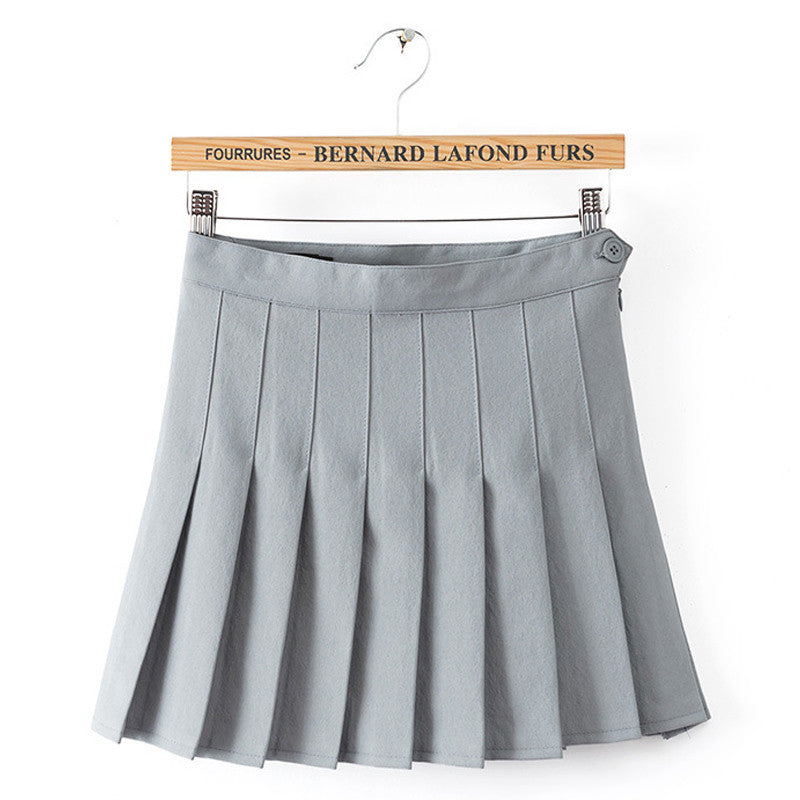 IUYZW GRAY PLEATED SKIRTS