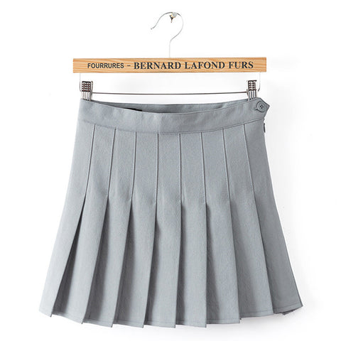 GRAY PLEATED SKIRTS