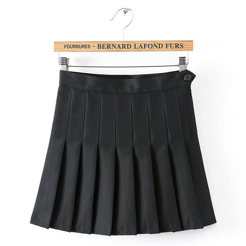 SlogPith BLACK PLEATED SKIRTS