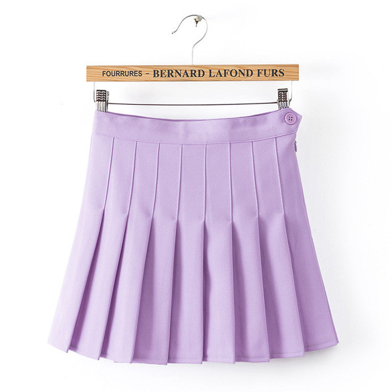 IUYZW PURPLE PLEATED SKIRTS