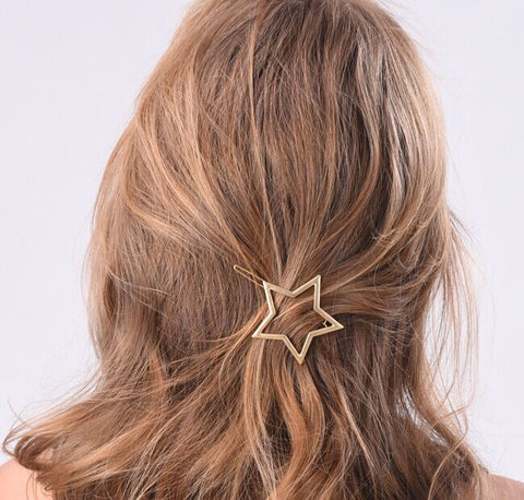 FIVE-POINTED STAR HAIR CLIP