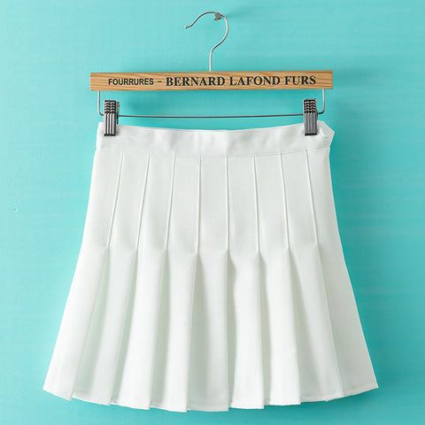 SlogPith WHITE PLEATED SKIRTS