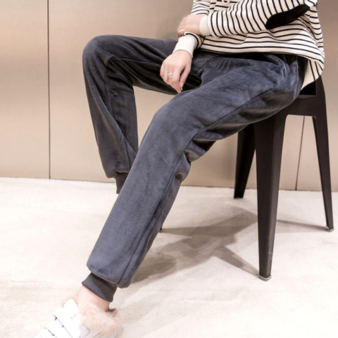 SlogPith WINTER NEW CASUAL VELVET TROUSERS