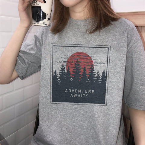 """ADVENTURE AWAITS"" TEES"