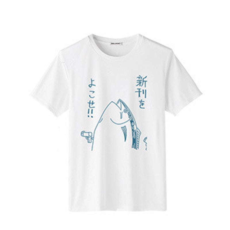 SlogPith JAPANESE SALTED FISH PATTERN PRINTING TEES