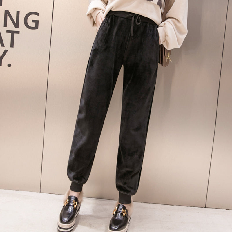 IUYZW WINTER NEW CASUAL VELVET TROUSERS