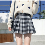 PLAID HIGH WAIST PLEATED SKIRTS