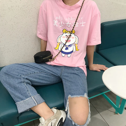 IUYZW PIGLET SAILOR MOON TEES