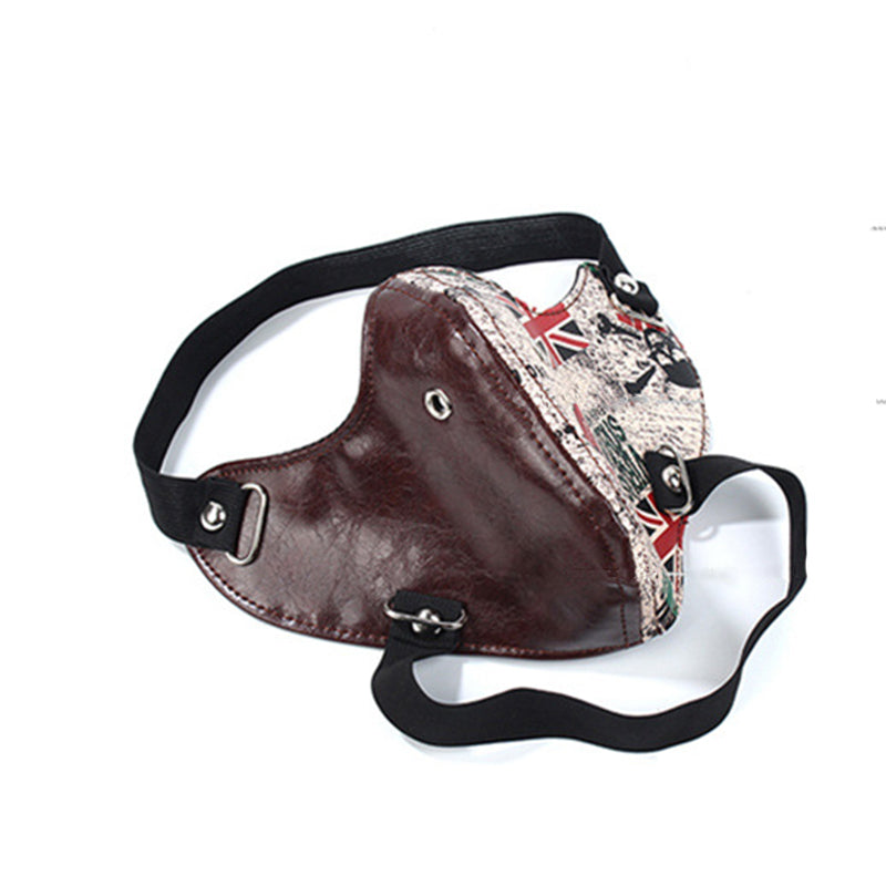 IUYZW AMERICAN PUNK LEATHER MASKS