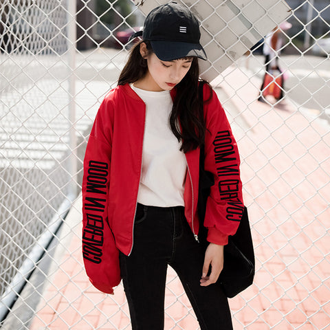 EMBROIDERED BASEBALL UNIFORM LOOSE JACKETS
