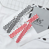 SlogPith RED AND WHITE BLACK AND WHITE PLAID CANVAS BELTS