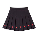 LOVE EMBROIDERED PLEATED SKIRTS