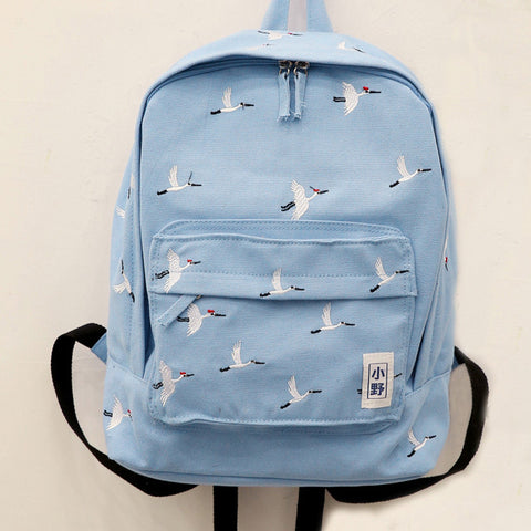 IUYZW WHITE CRANE  BACKPACK