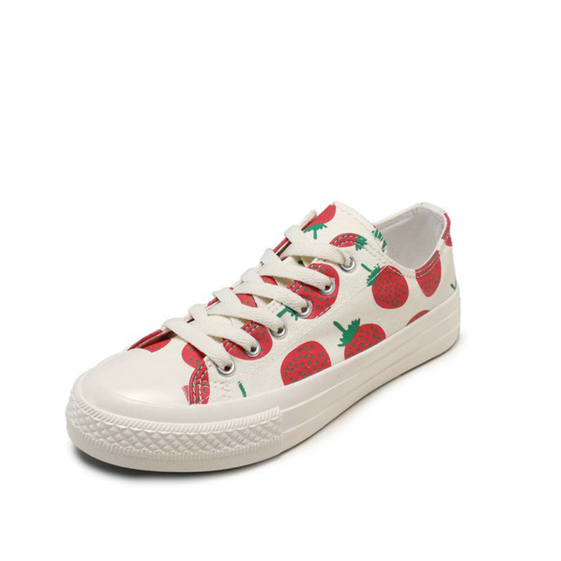 STRAWBERRY CANVAS SHOES