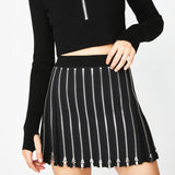 SlogPith ZIP PLEATED SKIRTS