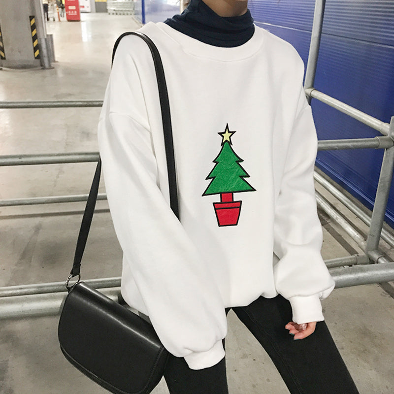 CHRISTMAS CARTOON EMBROIDERY SWEATERS
