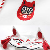 SlogPith MASK FOX PRINT HOODED SWEATERS