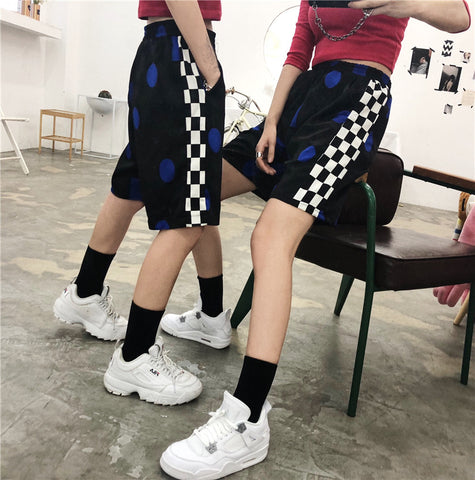 SlogPith HARAJUKU STYLE SPORTS STREET PLAID SHORTS