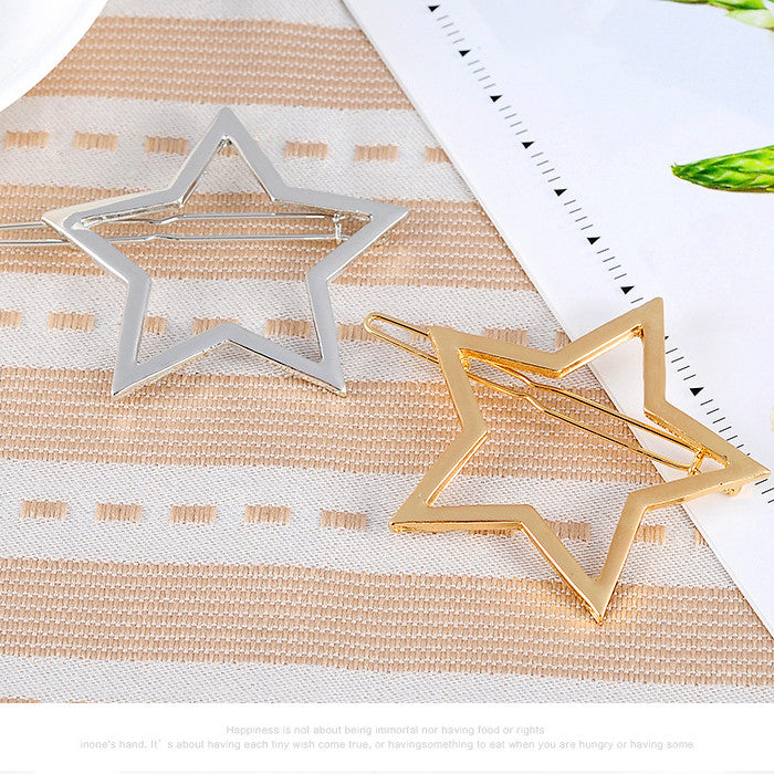 FIVE-POINTED STAR HAIR CLIPS