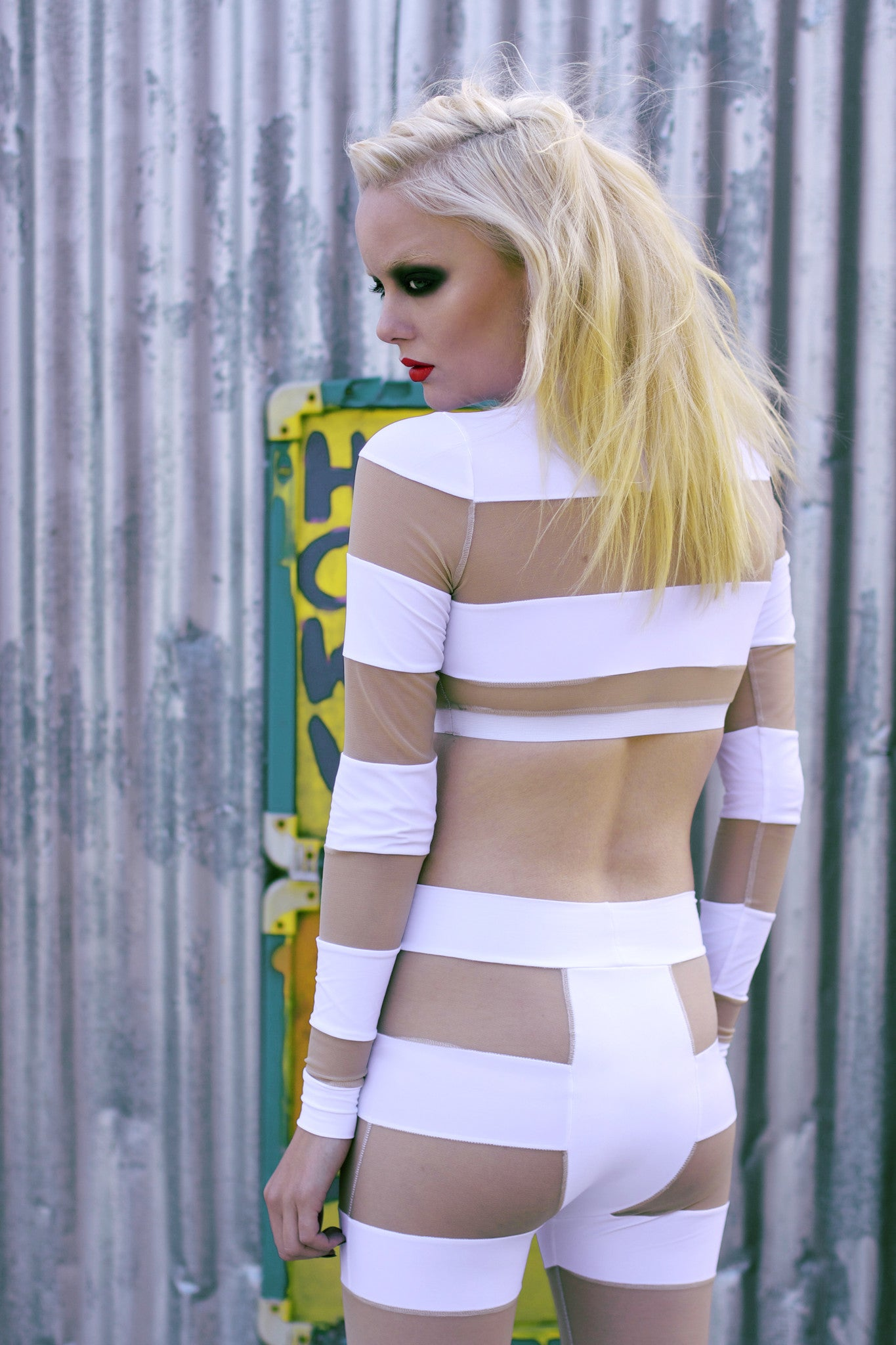 White Stripe 2-Piece