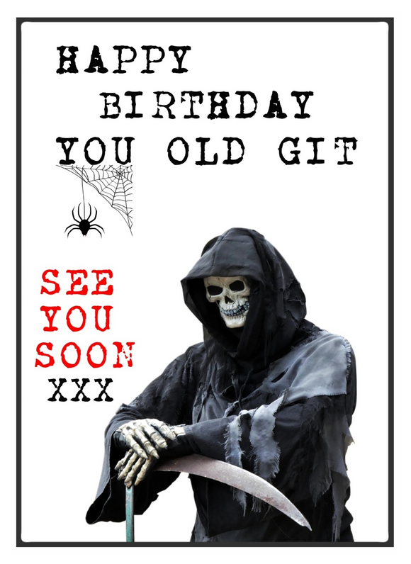 you old git birthday card