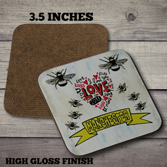 manchester bee coasters