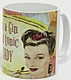 gin and tonic lady mug