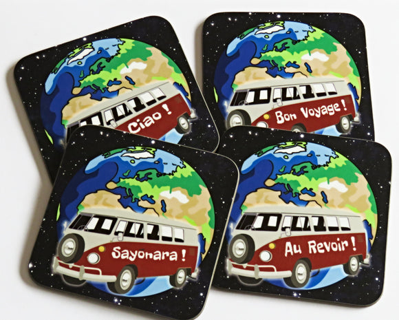 Camper Van Coaster Set, Set of 4 Coasters