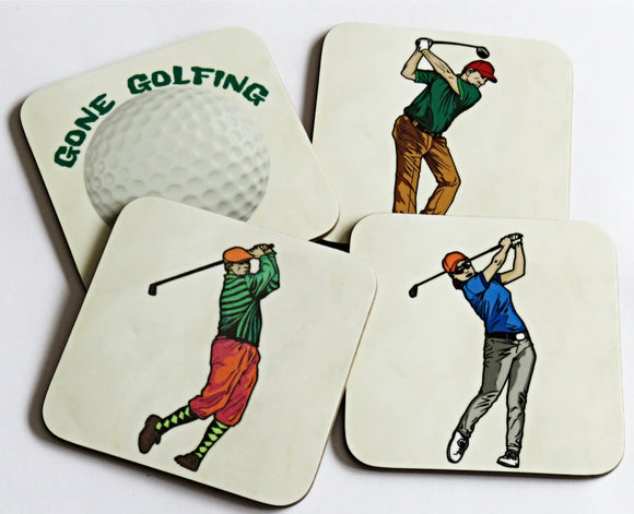 Golf Coaster Set, Set of 4 Coasters
