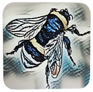 Tattoo Style Bee Coasters, Set of 4