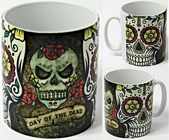 Day of the Dead Mug, Dia de los Muertos.