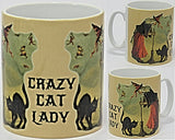 Crazy Cat Lady Witch Mug.