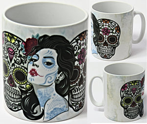 Sugar Skulls, Day of the Dead Mug.