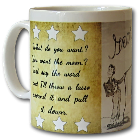 george lassos the moon mug