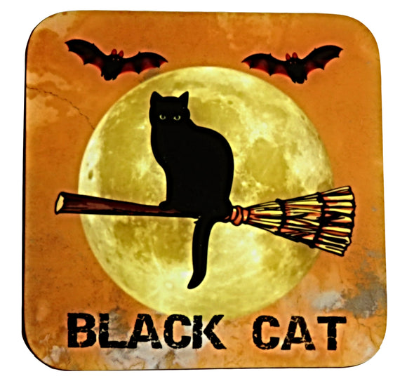 black cat coaster