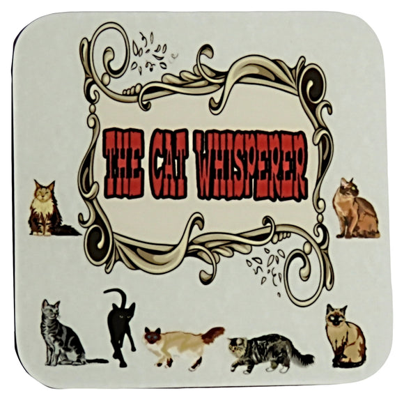 the cat whisperer coaster