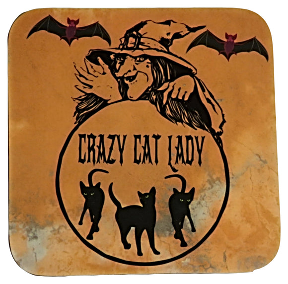 crrazy cat lady coaster