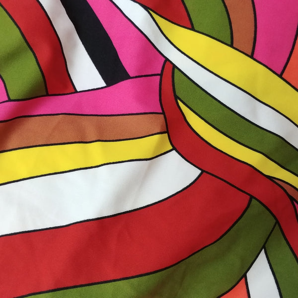 retro 1970s print fabric for swimwear