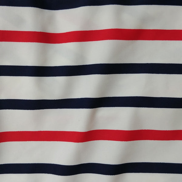 red white and blue striped fabric