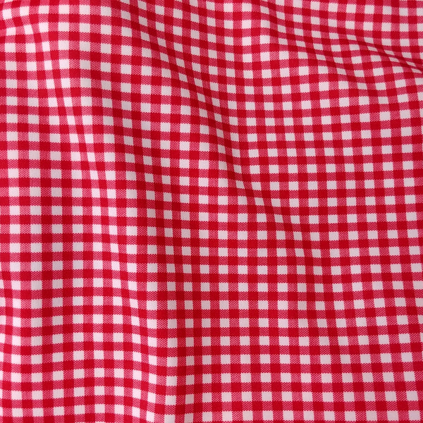 red check gingham fabric