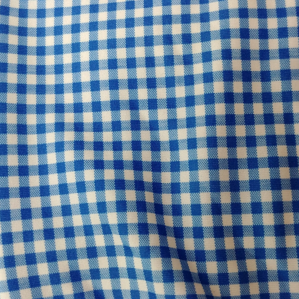 blue checked gingham fabric