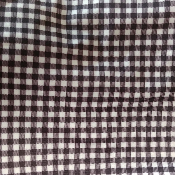 black and white gingham checked fabric